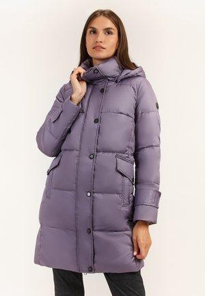MIT GROSSER KAPUZE - Down coat - purple