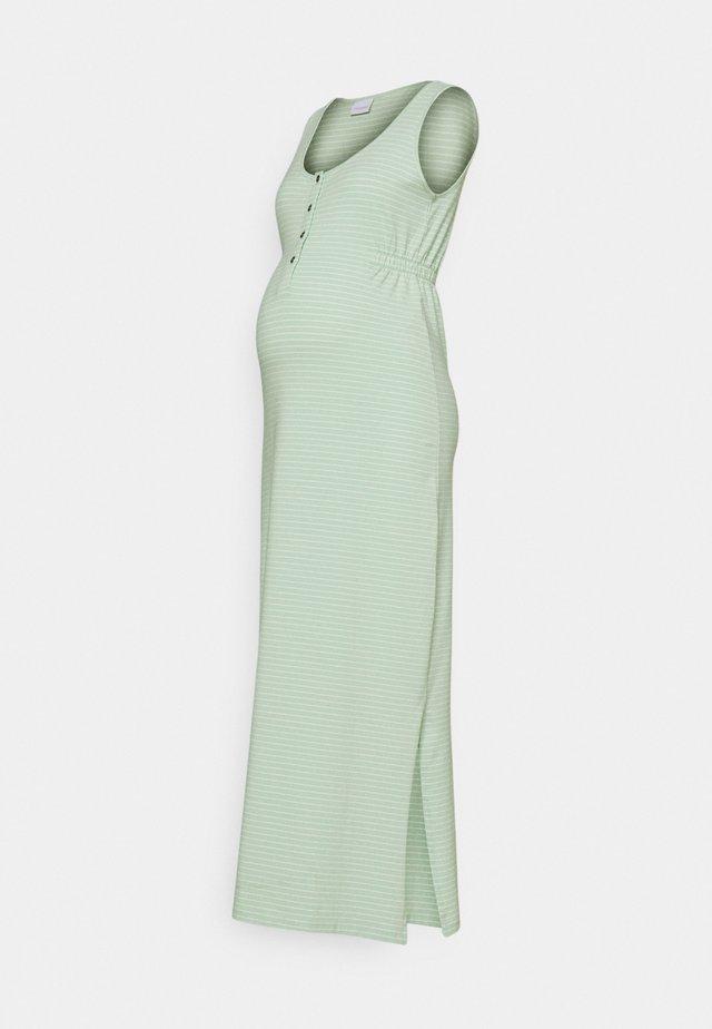 MLHANNE LIA DRESS - Maxi-jurk - cameo green/snow white