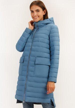 MIT WARMER KAPUZE - Winter coat - light blue