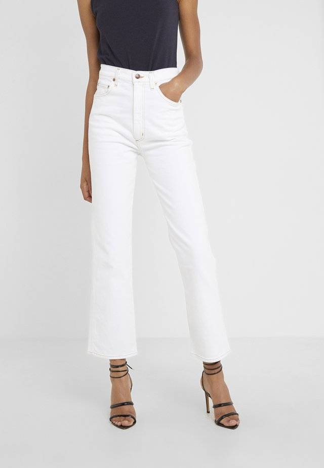 HIGH RISE WAIST - Jeansy Relaxed Fit - milk