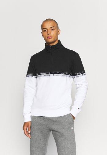 HALF ZIP  - Felpa - white/black
