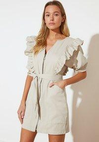 Trendyol - PARENT - Shift dress - beige - 1