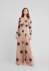 Maya Deluxe - STAR EMBELLISHED WRAP DRESS - Occasion wear - blush/navy - 2