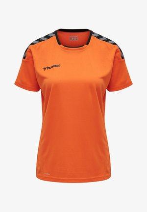 HMLAUTHENTIC  - Print T-shirt - tangerine