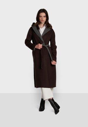 POSITANO BI - Cappotto classico - dark brown / dark grey