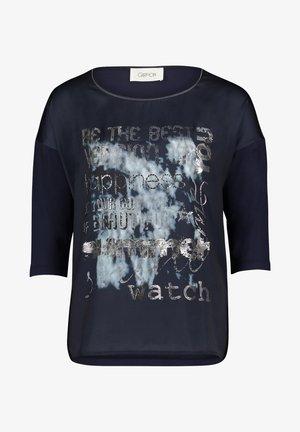 T-shirt à manches longues - dunkelblau/grau