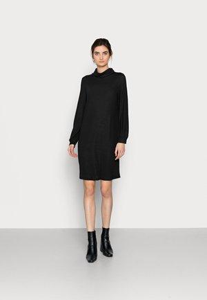 TURTLENECK DRESS - Stickad klänning - true black