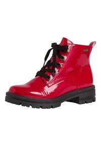 Jana - STIEFELETTE - Platform ankle boots - red patent - 3