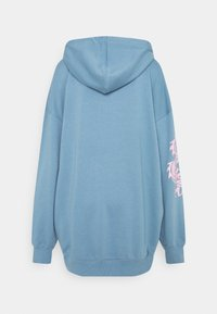 Missguided - DRAGON GRAPHIC HOODIE DRESS - Denní šaty - blue - 1