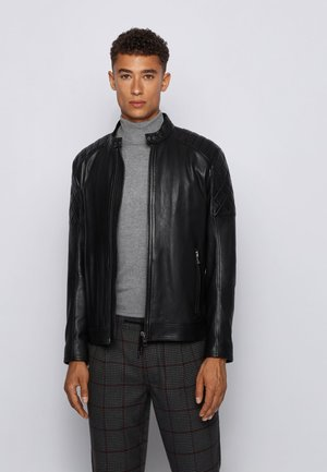 JEEAN  - Leather jacket - black