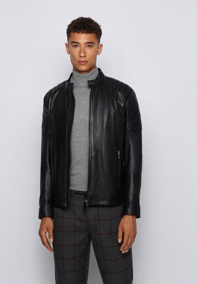 BOSS - JEEAN  - Veste en cuir - black