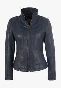 7eleven - LEA - Leather jacket - navy - 3