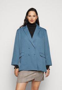 Missguided Plus - GRANDAD SIDE SPLIT  - Short coat - blue - 0