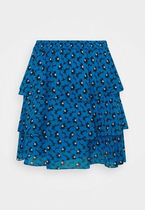 60S FLORAL - Mini skirt - cyan blu