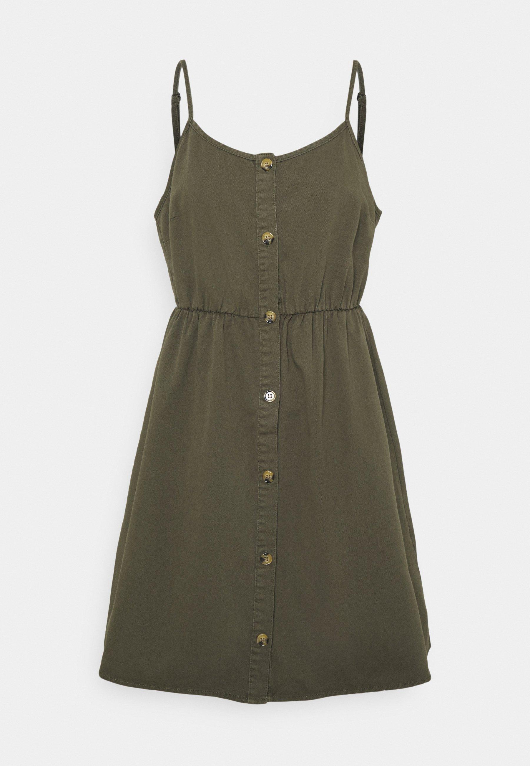Femme VMFLICKA STRAP SHORT DRESS COLOR - Robe en jean