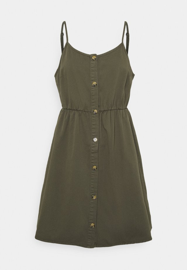 VMFLICKA STRAP SHORT DRESS COLOR - Sukienka jeansowa - ivy green