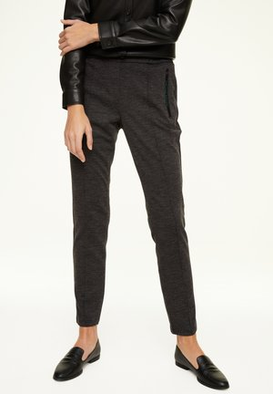 Trousers - black faux uni