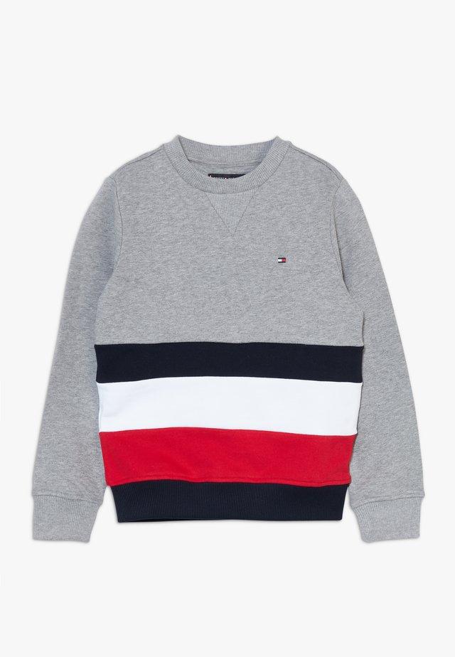 GLOBAL STRIPE COLORBLOCK  - Sweatshirt - grey