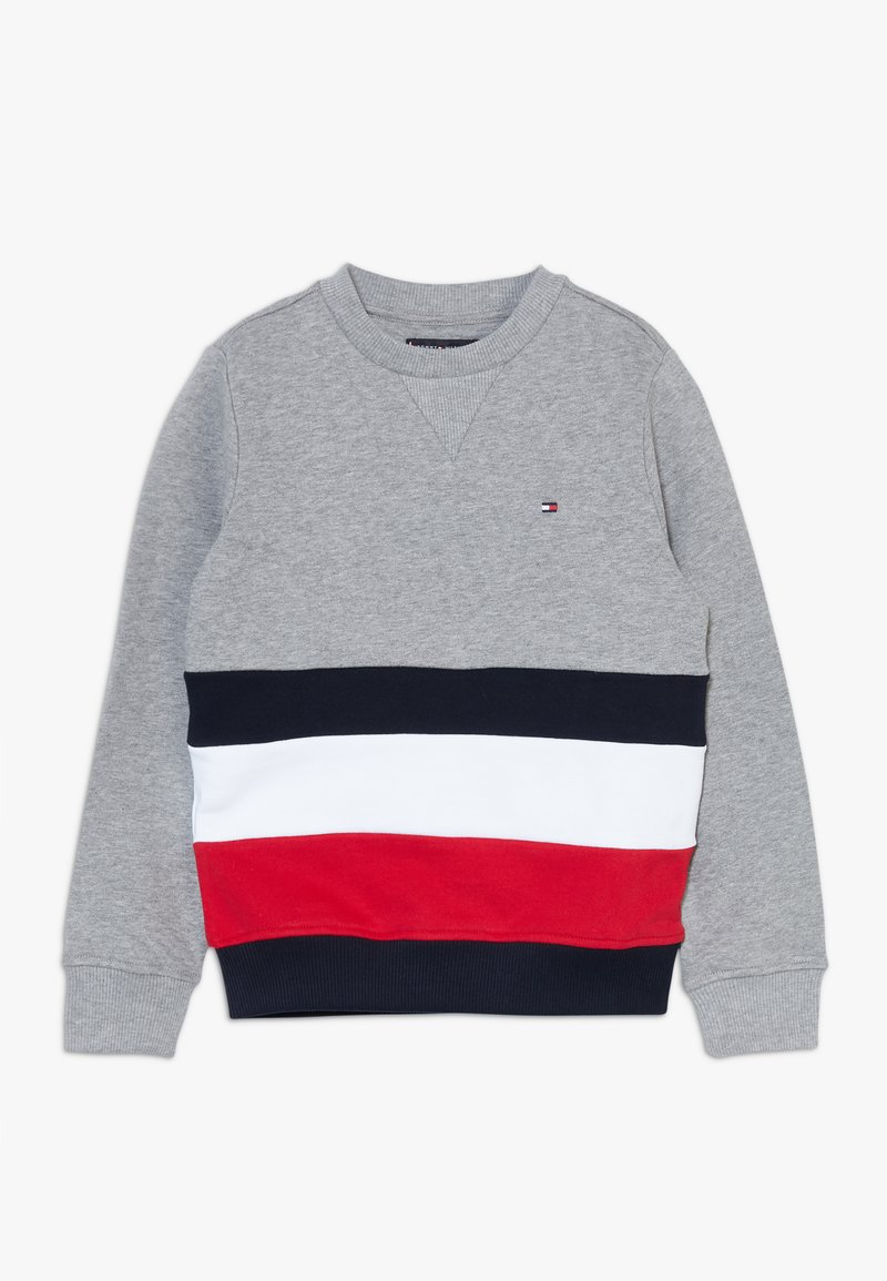 Tommy Hilfiger - GLOBAL STRIPE COLORBLOCK  - Sweater - grey