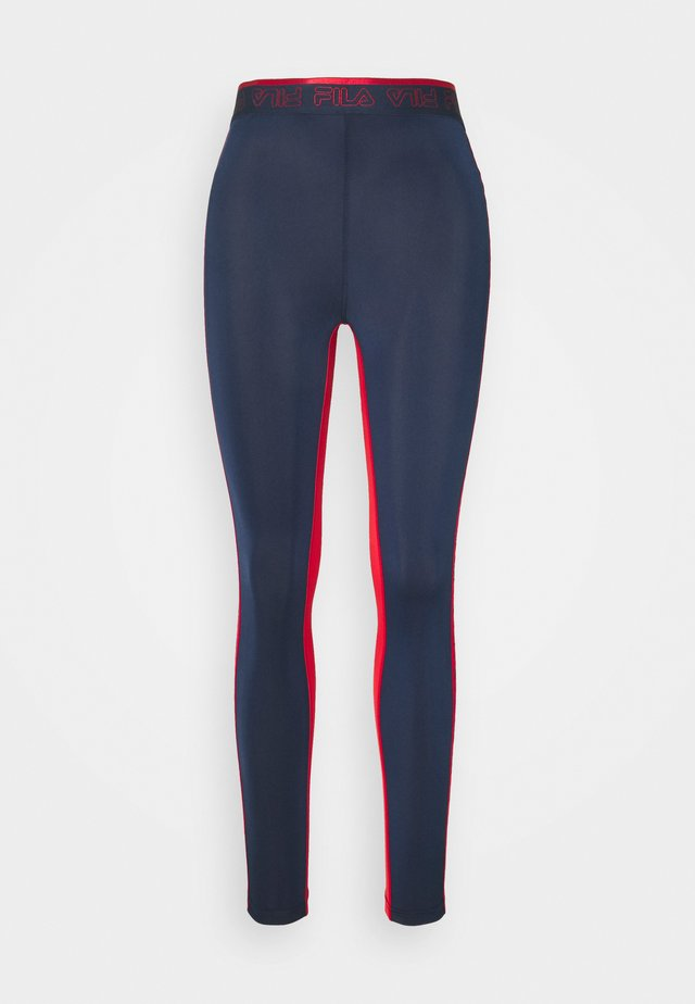 ALLA LEGGINGS - Punčochy - black iris/true red