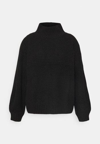 Stickad tröja - black dark