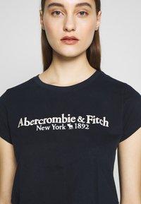 Abercrombie & Fitch - LONG LIFE LOGO - Print T-shirt - blue - 4