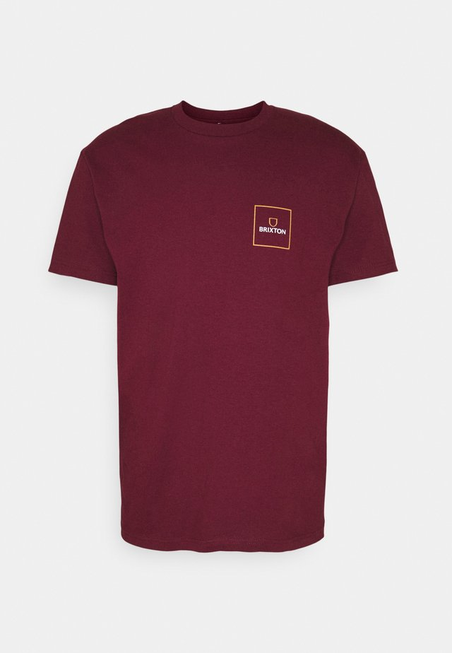 ALPHA BLOCK - T-shirt print - burgundy