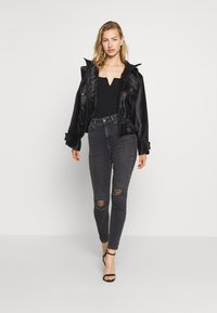 New Look - DISCO  - Jeans Skinny Fit - grey - 1