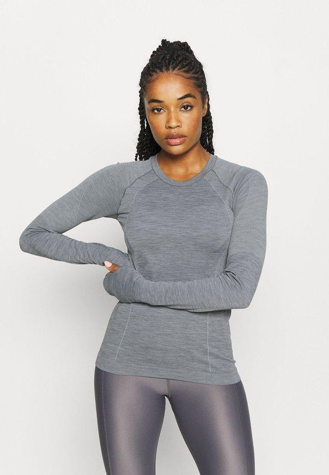 ATHLETE SEAMLESS WORKOUT - Sportshirt - charcoal grey