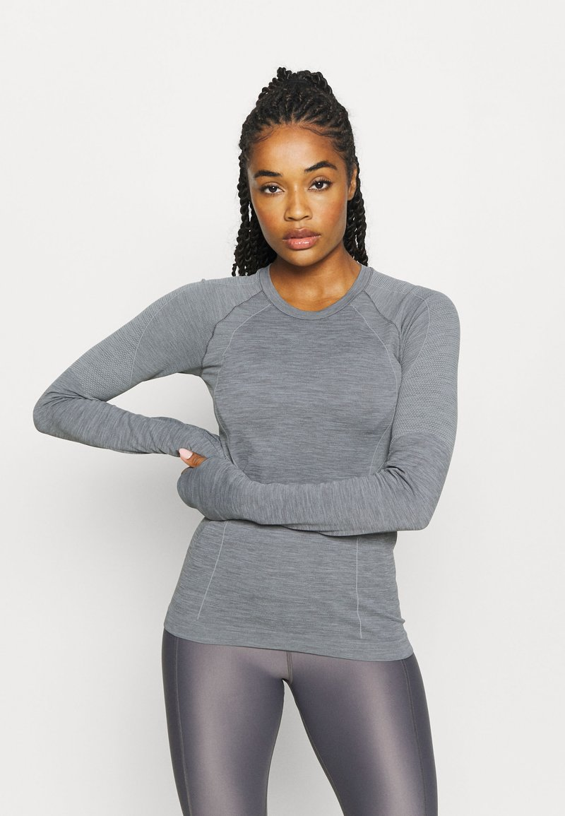 Sweaty Betty - ATHLETE SEAMLESS WORKOUT - Sports shirt - charcoal grey