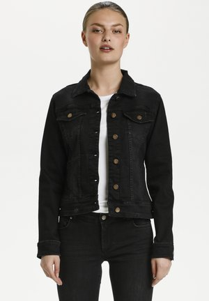 Giacca di jeans - black vintage wash