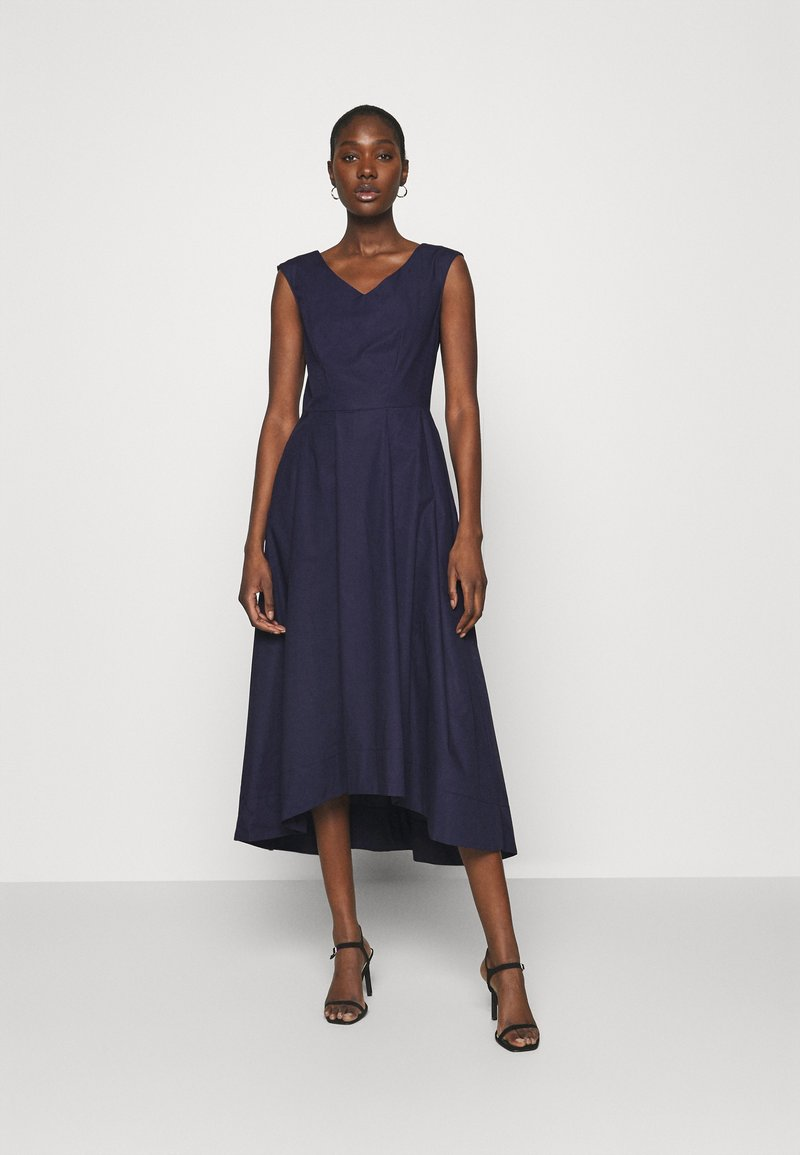 Closet - HIGH LOW PLEATED DRESS - Cocktailkjole - navy