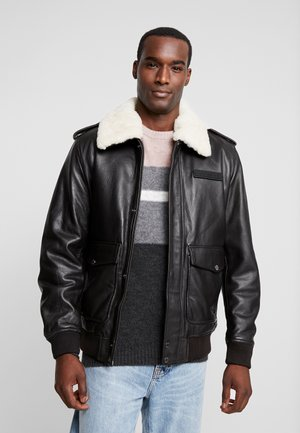 DAVY - Leather jacket - braun