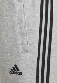 adidas Performance - 3-STREIFEN DOUBLEKNIT TAPERED LEG HOSE - Trousers - grey - 4