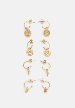 PCLYLA HOOP EARRINGS 4 PACK - Earrings - gold-coloured