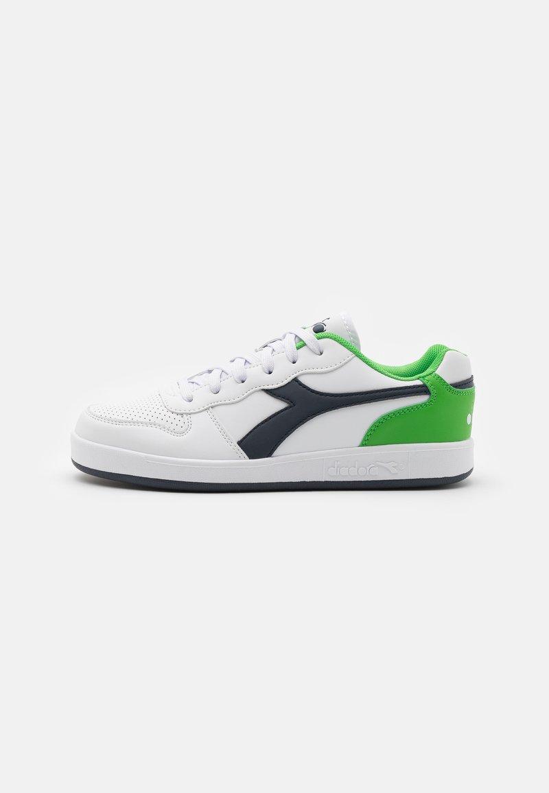 Diadora - PLAYGROUND UNISEX - Sports shoes - white/black iris/classic green