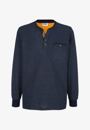 Long sleeved top - marineblau,gelb