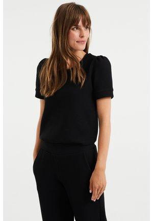 MET STRUCTUUR - Basic T-shirt - black