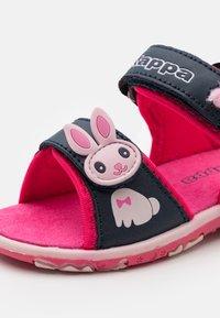 Kappa - Walking sandals - navy/pink - 5