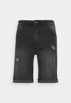 ORANGE DESTROY - Denim shorts - grey washed