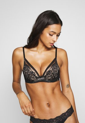ENCORE PADDED HIGH APEX BRA - Push-up bra - black/nude