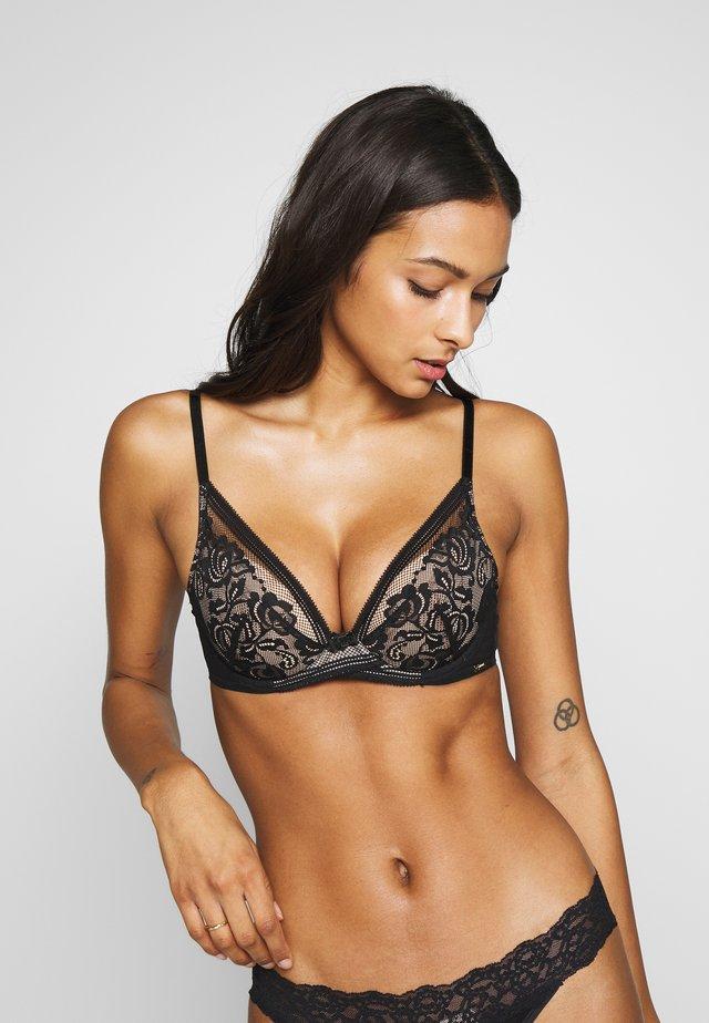 ENCORE PADDED HIGH APEX BRA - Push-up bra - black/nude