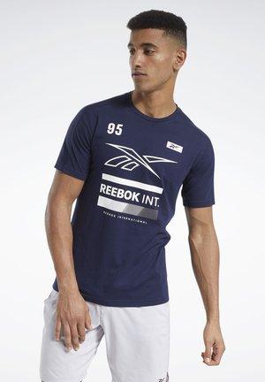SPEEDWICK GRAPHIC MOVE T-SHIRT - Print T-shirt - blue