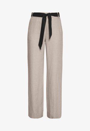 HR FLARED - Pantalon classique - beige