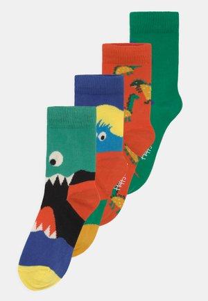MONSTERS & DINOS 4 PACK UNISEX - Sokken - multi-coloured