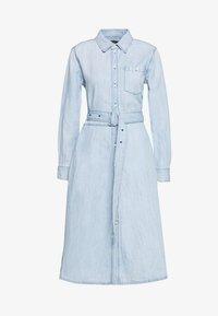 Polo Ralph Lauren - LONG SLEEVE CASUAL DRESS - Vestido vaquero - light indigo - 5