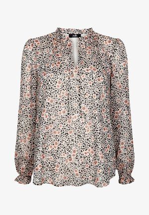 ANIMAL AND FLORAL PRINT - Blouse - pink