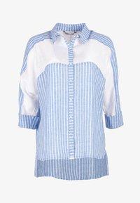 HELMIDGE - Button-down blouse - weiss hellblau - 5