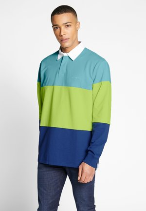 NEWPORT RUGBY - Poloshirt - window/lime/submarine