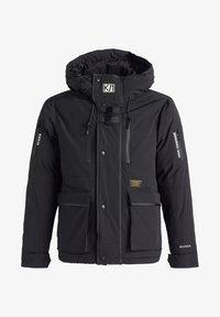 khujo - NANDU - Winter jacket - schwarz-schwarz kombo - 8
